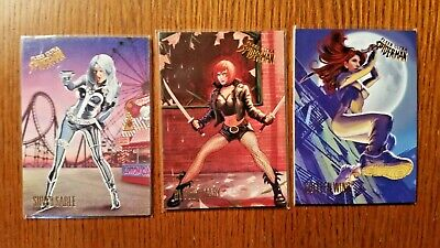 (3) 2017 Fleer Ultra Spidey Cards Silver Sable,Bloody Mary,Colleen Wing 93 3 72