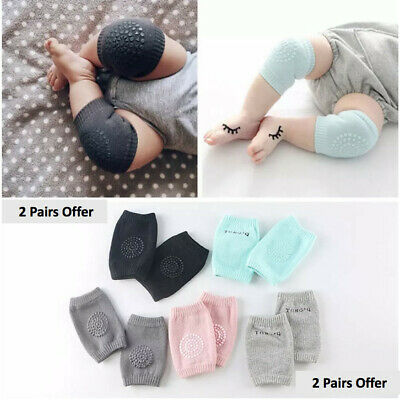 2 Pairs Unisex Baby Toddlers Kneepads, Adjustable Knee Elbow Pads Crawling by