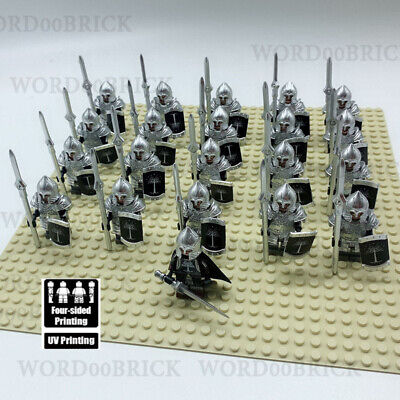 21pcs Viking Medieval Knights Crusader Rome Commander Soldiers Custom Lego Toys