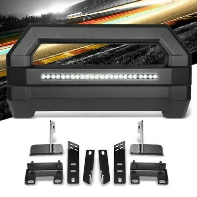 Square Textured Bull Bar Grill Guard+License Bracket+LED Bar For 09-18 Ram 1500