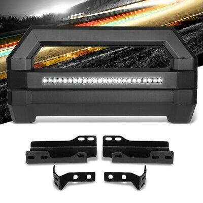 Square Textured Bull Bar Grill Guard+License Bracket+LED Bar For 07-18 Tahoe