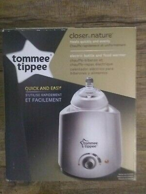 Tommee Tippee Closer to Nature Electric Baby Bottle and Food Warmer open box