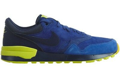 009d0f0a6adb Nike Air Odyssey Leather Mens 684773-404 Navy Voltage Suede Running Shoes  Size 9