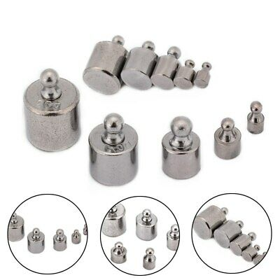 5pcs 1g 2g 5g 10g 20g Chrome Plating Calibration Scale Weight Kit Set Silver