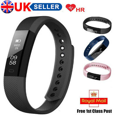 Smart Fit- Bit Bracelet Bluetooth Fitness Activity Tracker Heart Rate Pedometer