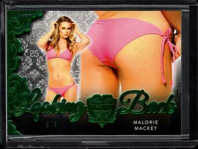 Malorie Mackey 3/3 2019 Benchwarmer 25 Years Looking Back Butt Card