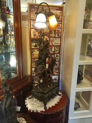 Mother and Two Children Large Decorative Statue Lamp