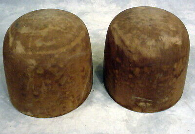 Lot Of 2--Antique  Wooden Hat Molds -Industrial-Millinery