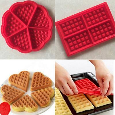 DIY Silicone Waffle Mold Baking Cookie Cake Muffin Mould Cooking Kitchen Tools