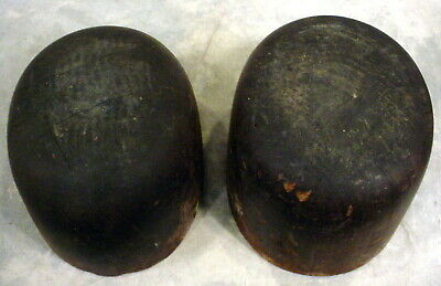 Lot Of 2--Antique  Wooden Hat Molds -Industrial-Millinery-Vintage