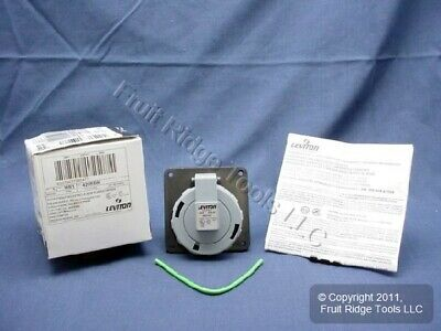 Leviton Watertight Pin & Sleeve Receptacle Outlet IEC 309 20A 600V 3Ø 420R5W