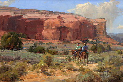 Hd Print Cowboy Oil Painting Art Giclee Printed on canvas 12X18 inches P225