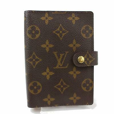 Authentic Louis Vuitton Diary Cover Agenda PM Browns Monogram 307494