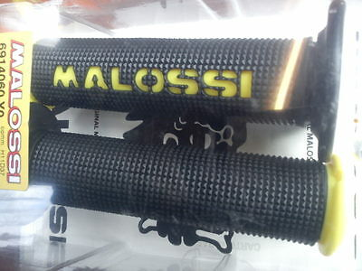 Vespa LML Gilera Malossi Handle Bar Grips Black & Yellow.. NEW!!