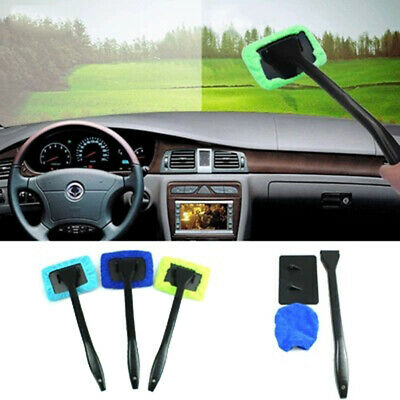 Microfiber Long Handle Car Wash Brush Auto Window Scrubber Cleaner Tool Wash AT