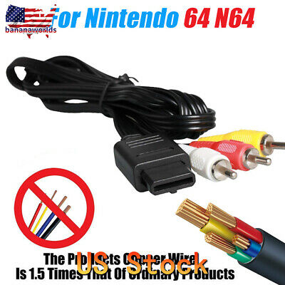 6ft A/V Lead Composite RCA Video Cable for N64, Gamecube & SNES Super Nintendo