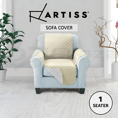 Artiss Sofa Cover Quilted Couch Covers Lounge Protector Slipcovers 1 Seater