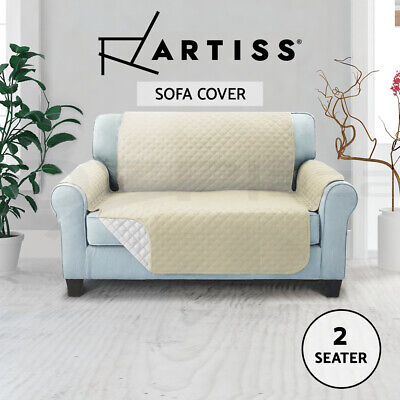 Artiss Sofa Cover Quilted Couch Covers Lounge Protector Slipcovers 2 Seater