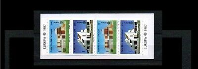 1987 - Europe CEPT Stampbooklet Turkish-Cyprus Mi.MH1 - with 2x205-206C [A57_186