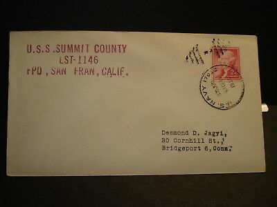 USS Summit County (LST-1146) Naval Cover 1956