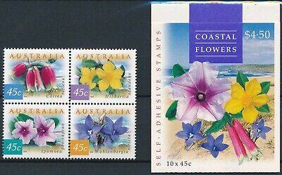 [H15954] Australia 1999 Good lot set of stamps MNH + ADHESIVE booklet very fine