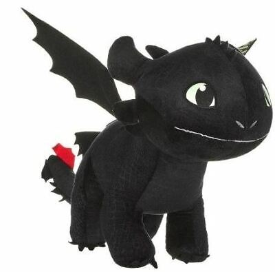 """How To Train Your Dragon The Hidden World Toothless Nightfury 12"""" Plush Soft Toy"""
