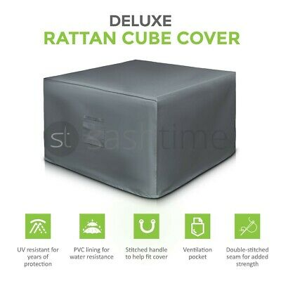 Premium Heavy Duty Waterproof Rattan Cube Cover Outdoor Garden Furniture Rain