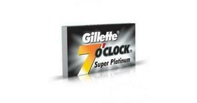 Gillette 7 o'Clock Super Razor Blades-Platinum Double Edge - 140 Blades F/Ship