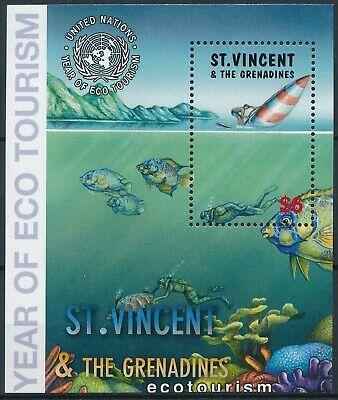 [H16262] St Vincent & Gren. 2002 ECOTOURISM Good sheet very fine MNH