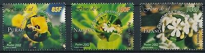 [H16443] Polynesia 2002 FLOWERS - Flora Good set of stamps very fine MNH