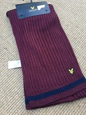 Boys LYLE & SCOTT Burgandy Scarf - Brand New With Tags - One Size