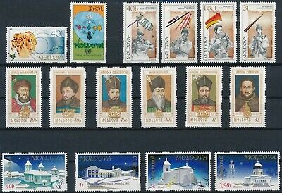 [H16543] Moldova 2001 Good lot of 4 sets of stamps very fine MNH