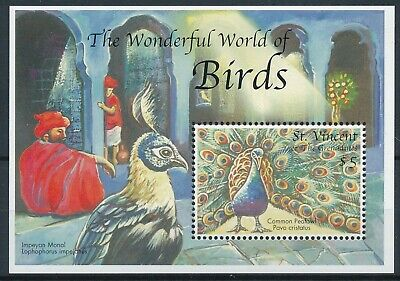 [H16811] St Vincent Grenadines 2000 PEACOCK - BIRDS Good sheet very fine MNH