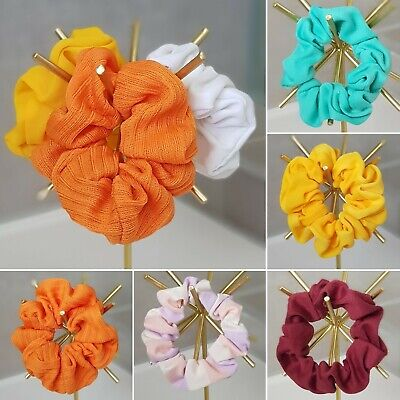 New Handmade Hair Scrunchies Made From New And Upcycled Quality Fabric