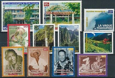 [H17052] Polynesia 2001 Good lot of stamps very fine MNH