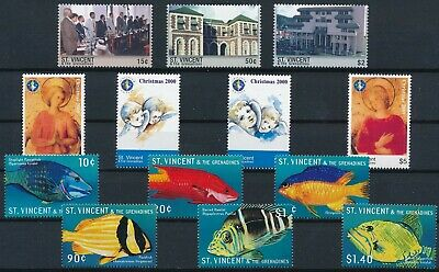 [H17057] St Vincent Gren. After 2000 Good lot of 3 sets of stamps very fine MNH