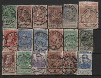 Belgium Telegraph Cancel Lot