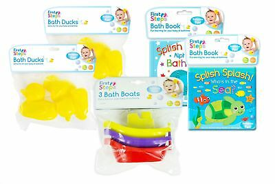 11 Piece Baby Bath Fun Set Toddler Learning Bathtime Book Ducks Boats Playing