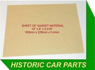 "SHEET OF GASKET MATERIAL 0.016"" (0.4mm) Thickness ideal for Carburettor Gaskets"