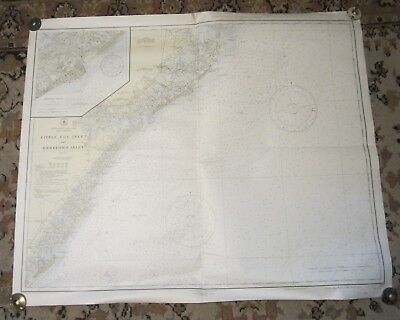 1945 NEW JERSEY Nautical Chart - ATLANTIC CITY, Wildwood, Brigantine, Ocean City