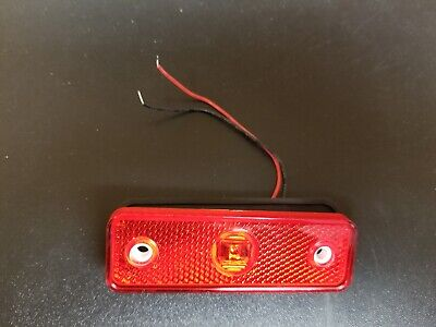 "LED Marker Light- Red  for AEV ambulance 3 /3/4"" x 1 1/8"""