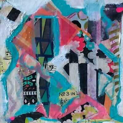 Original fine art painting - UNCHAINED MELODY - mixed media art