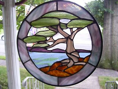 Stained Glass Zen  Sun catcher (Real Glass)