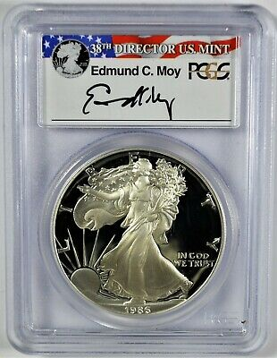 1986-S PCGS PR 69 DCAM Ed Moy Signed Low Pop American Silver Eagle (b537.62)