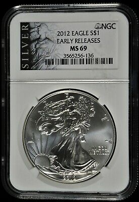 2012 NGC MS 69 Early Releases $1 American Silver Eagle ALS Label (b540.31)