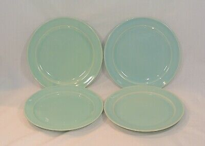 LURAY Pastels GREEN Salad Plates 7 3/8 inches Set of 4 Taylor Smith & Taylor