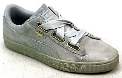 f6192d519ccd Womens Puma Suede Heart Grey Chunky Laces Skater Sports Pumps Trainers Size  Uk 6
