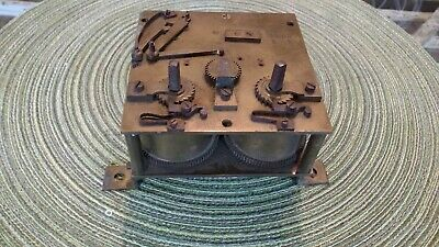 Antique Brass Clock Works Movements Parts French? marked