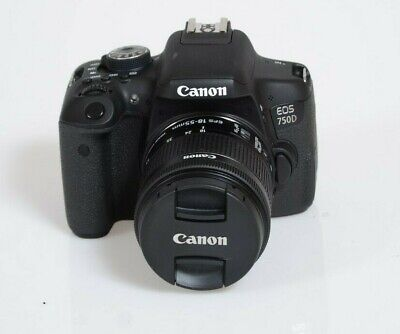 Canon EOS 750D 24.2MP Digital SLR Camera-Black Kit with 18-55mm IS STM Lens