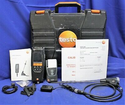 Testo Combustion Analyzer Kit 320 W/  IR Printer & Carrying Case
